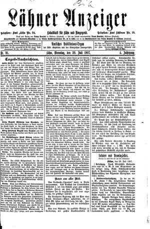 Lähner Anzeiger vom 30.07.1907