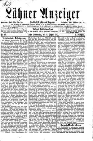 Lähner Anzeiger vom 08.08.1907