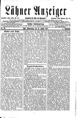 Lähner Anzeiger vom 15.08.1907