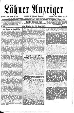 Lähner Anzeiger vom 20.08.1907