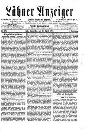 Lähner Anzeiger vom 29.08.1907