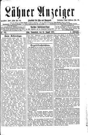 Lähner Anzeiger vom 31.08.1907
