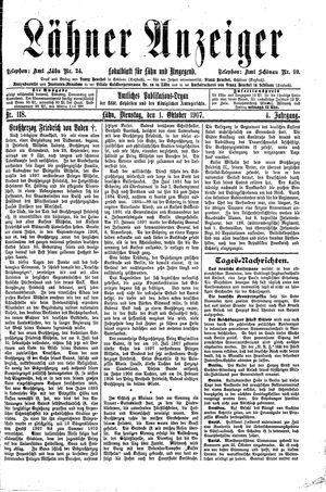 Lähner Anzeiger vom 01.10.1907