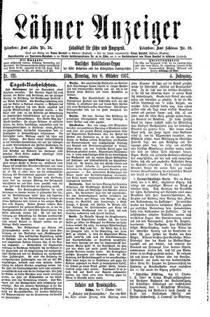 Lähner Anzeiger vom 08.10.1907