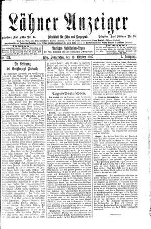 Lähner Anzeiger vom 10.10.1907