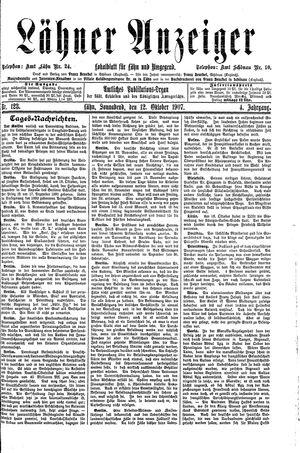 Lähner Anzeiger vom 12.10.1907