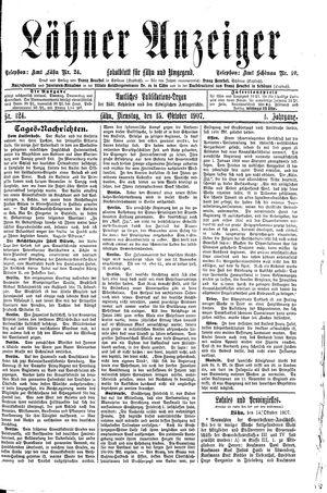 Lähner Anzeiger vom 15.10.1907