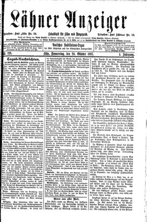 Lähner Anzeiger vom 24.10.1907