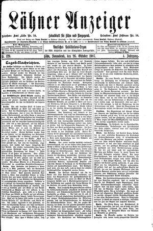 Lähner Anzeiger vom 26.10.1907