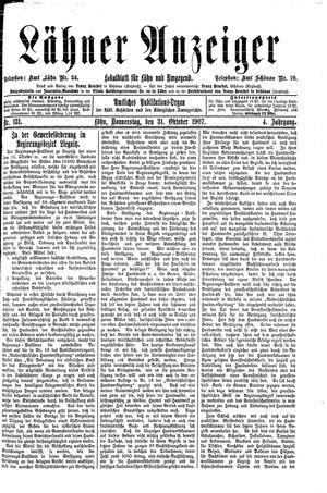 Lähner Anzeiger on Oct 31, 1907