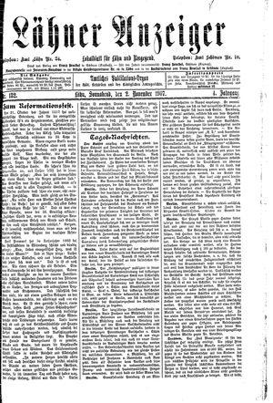 Lähner Anzeiger vom 02.11.1907