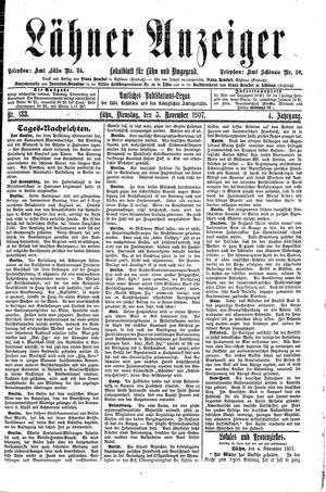 Lähner Anzeiger vom 05.11.1907