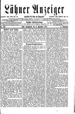 Lähner Anzeiger vom 09.11.1907