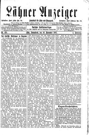 Lähner Anzeiger vom 16.11.1907