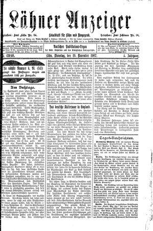 Lähner Anzeiger vom 19.11.1907