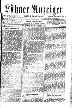 Lähner Anzeiger vom 26.11.1907