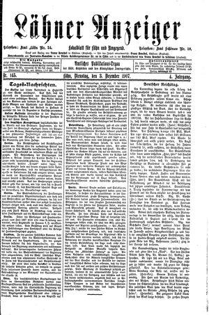 Lähner Anzeiger vom 03.12.1907