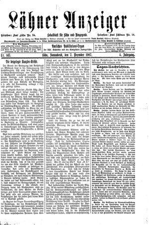 Lähner Anzeiger vom 07.12.1907