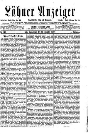 Lähner Anzeiger vom 12.12.1907