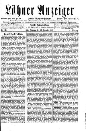 Lähner Anzeiger vom 17.12.1907