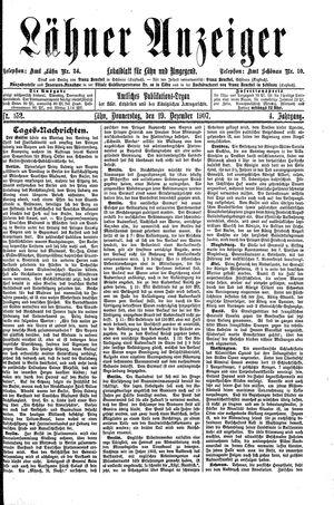Lähner Anzeiger vom 19.12.1907