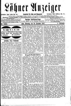 Lähner Anzeiger vom 24.12.1907