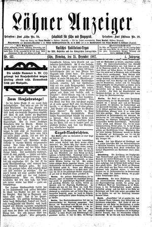Lähner Anzeiger vom 31.12.1907