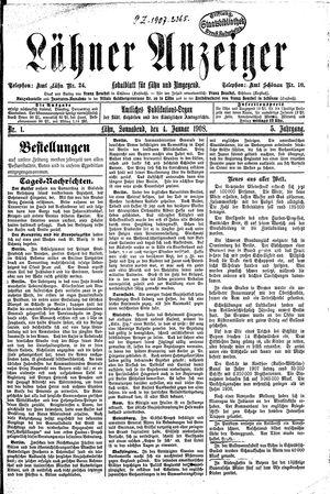 Lähner Anzeiger vom 04.01.1908