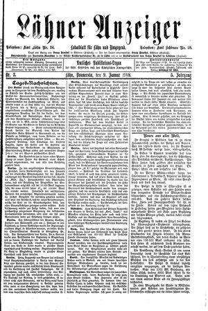 Lähner Anzeiger vom 09.01.1908