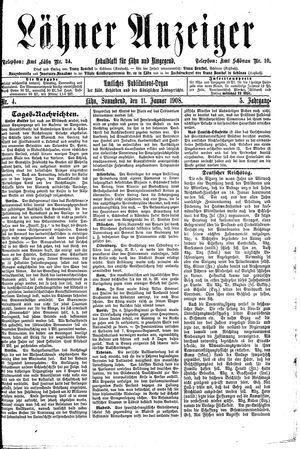 Lähner Anzeiger vom 11.01.1908