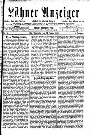Lähner Anzeiger vom 23.01.1908