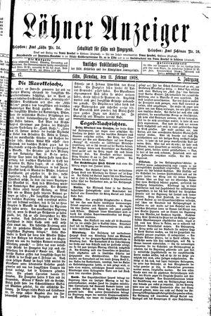 Lähner Anzeiger vom 11.02.1908