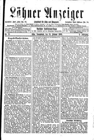 Lähner Anzeiger vom 15.02.1908