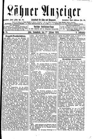 Lähner Anzeiger on Feb 29, 1908