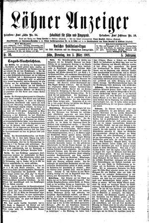 Lähner Anzeiger vom 03.03.1908