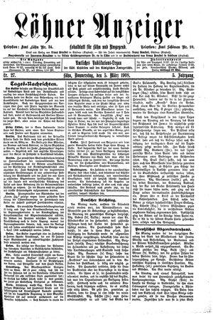 Lähner Anzeiger vom 05.03.1908