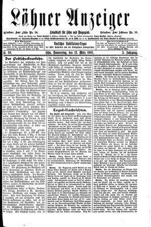 Lähner Anzeiger vom 12.03.1908
