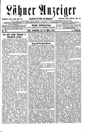 Lähner Anzeiger on Mar 21, 1908