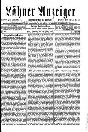 Lähner Anzeiger vom 24.03.1908