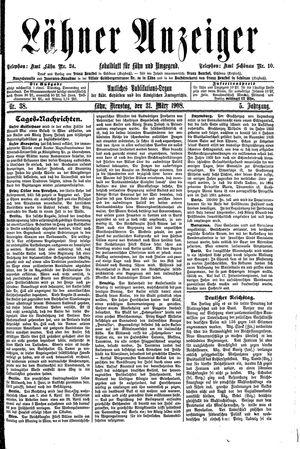 Lähner Anzeiger vom 31.03.1908