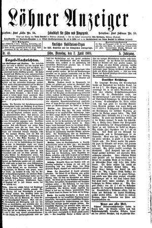 Lähner Anzeiger vom 07.04.1908