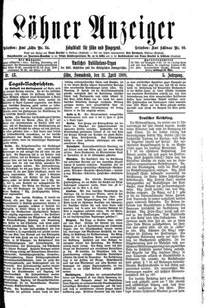Lähner Anzeiger vom 11.04.1908