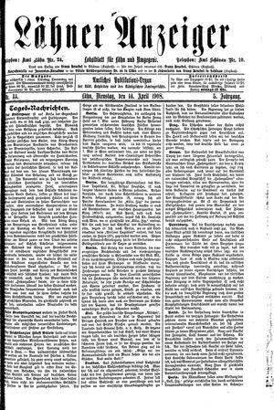Lähner Anzeiger vom 14.04.1908