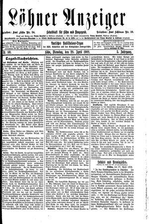 Lähner Anzeiger vom 28.04.1908