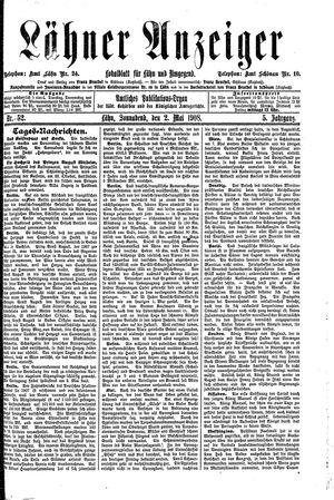 Lähner Anzeiger vom 02.05.1908