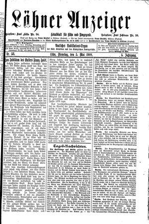 Lähner Anzeiger vom 05.05.1908