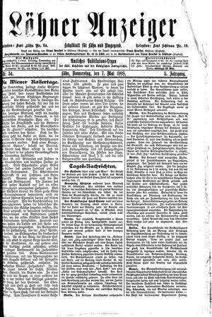 Lähner Anzeiger vom 07.05.1908