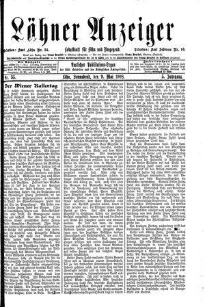Lähner Anzeiger vom 09.05.1908