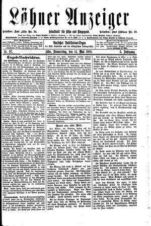Lähner Anzeiger vom 14.05.1908