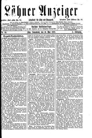 Lähner Anzeiger vom 16.05.1908